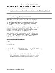 Microsoft Office Word Resume Templates Jospar