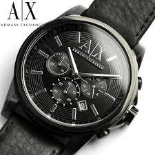 armani exchange watch men s black leather strap 45mm ax2098 new ax armani exchange watches armani exchange watch men s black leather strap 45mm ax2098