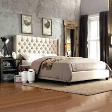 tufted platform bed. Beige Tufted Bed Platform Inspire Q Linen Button .