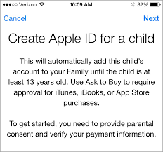 ios family sharing pros and cons be web smart screenshot while setting up family sharing for a child under 13