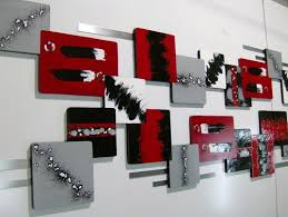 huge 95x25 unique red n black abstract art wood metal wall on large metal wall art red with red and black metal wall art elitflat