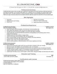 Nursing Assistant Resume Sample Resume Letter Collection