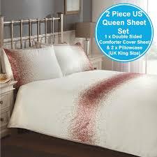 shimmer sequin blush pink cream king size duvet cover set adult bedding new king size duvet z43