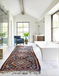 rugs home decor large pattern runner rug in bathroom
