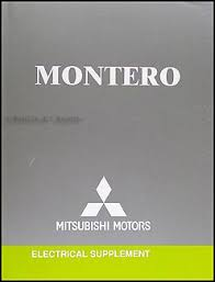 2004 mitsubishi montero wiring diagram manual original