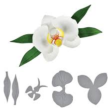 Paper Orchid Flower Hamyho 3d Layered Orchid Flower Frame Stencil Metal Steel Cutting