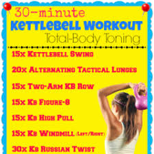 Printable Kettlebell Workout Chart 30 Minute Kettlebell Workout Total Body Toning My Dream
