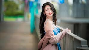 Beautiful Asian Girl 4K HD desktop ...