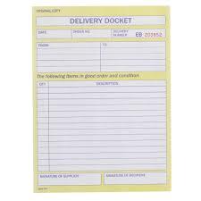 Delivery Book Template Delivery Docket Resumelist Ga
