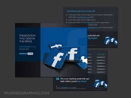 Facebook Powerpoint Template With 3d App Icons Trashedgraphics