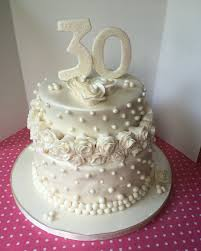 30th Anniversary Decorations Pearl Cupcakes Idea For 30th Wedding Anniversary Cakes