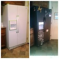 a white fridge with black appliances not anymore chalkboard painted fridge was an inexpensive