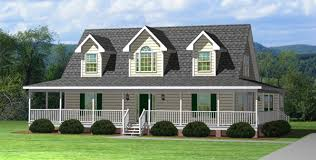 Hampton   House Plans With PicturesThe Hampton is a cape cod style home   a wrap around porch from Madison Homebuilders