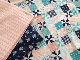 riley blake flannel baby quilt