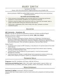 Sample Resume Cover Letter Mechanical Engineer New Sample Resume For