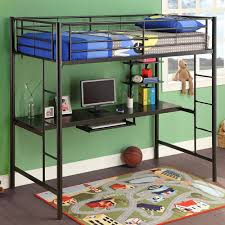 loft bed with desk underneath for teen