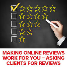 Asking for online reviews