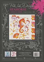 Pink Ink Designs Stencils Pink Ink Designs Pink Ink Layered Stencils Seahorse