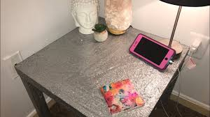 Image Dresser Makeover Youtube Diy Mod Podge Glitter Table Easy And Cheap