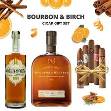 bourbon and birch cigar gift set woodford reserve