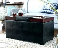 ottoman coffee table with storage white leather ottoman coffee table storage fabulous small round wood with