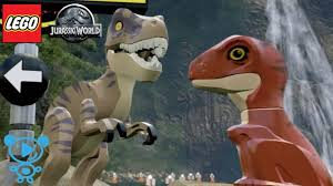 LEGO DINOSAURIER Baby 's T-Rex und Velociraptor spielen im ...