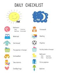 Printable Daily Checklist For Kids Daily Schedule Kids