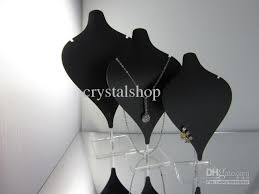 Necklace Display Stands Wholesale Wholesale Set Of 100 Black Acrylic Necklace Earring Pendant Jewelry 2