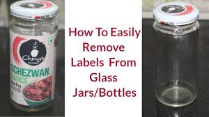how to remove labels from glass jars bottles simple and easy method reebz world