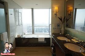 shangri la china world summit wing grand premier room beijing hotel room bathroom view of