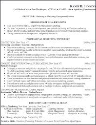 Sports Management Resume From Sports Marketing Resume Examples