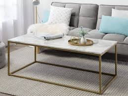 coffee table white marble effect with