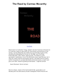 critical essay the road by cormac mccarthy
