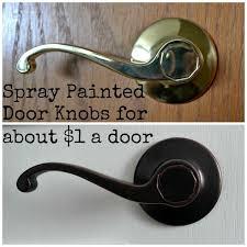 antique bronze door knobs. Diy Spray Painted Doorknobs Ugly Brass To Beautiful Oil Rubbed Bronze, Doors, Painting Antique Bronze Door Knobs