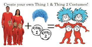 diy dr seuss cat in the hat thing 1 thing 2 costumes