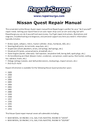 nissan quest repair manual 1993 2009 Toyota Wire Harness Repair Manual Toyota Wire Harness Repair Manual #22 wire harness repair manual toyota truck 1989