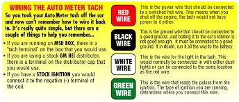 auto meter 233902 autogauge series memory tachometer, 5 inch diameter tachometer wiring diagram yamaha tach wiring guide (gif)