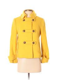 Details About J Crew Women Yellow Wool Coat 2 Petite