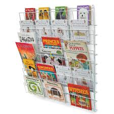 10 shelf square wall mounted book racks 77 x 118 x 48cm