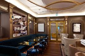 Interior:Glossy Bar Table With Gold Finishing In Asian Style Interior Design  Idea Futuristic Bar