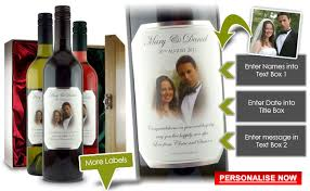 personalised wine wedding gift