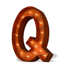... Marquee Letter Lights - 24 Letter Q Lighted Vintage Marquee Letters  (Modern Font/ ...