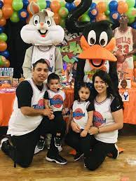 Romeo's 2nd jam | Space jam theme, Looney tunes party, 1st birthday party  themes