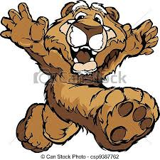 mountain man mascot. smiling mountain lion or cougar running with hands mascot vector illustration man
