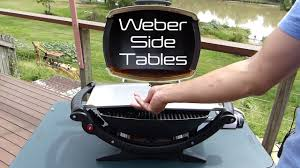 Weber Baby Q Stainless Steel Side Tables Q100 Q1000 Q100e Q1200