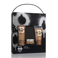 man on tigi bed head for men gift set hair for men tigi bed headan hair