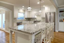 Bianco Antico with white cabinets. Bianco Antico Granite Installed Example