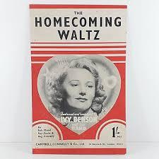 The Homecoming Waltz - Ivy Benson & Her Band - Vintage Sheet Music 1943 |  eBay