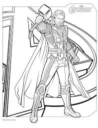 avengers coloring pages here thor