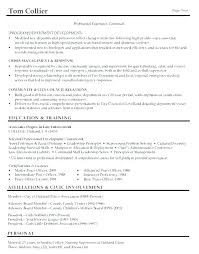 Military Resumes Examples Best Police Resume Objective Entry Level Police Officer Resume School